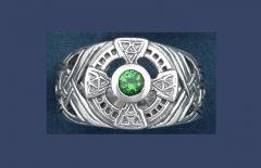 Q2090 Silver Celtic Cross Ring