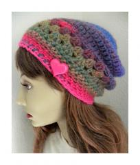 Spring Colors slouchy Beanie hat
