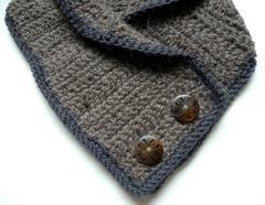 Taupe alpaca wool blend Neckwarmer