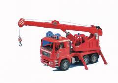 Fire Engine Crane Truck W/LT&S Toy