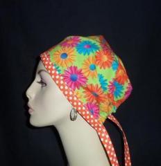 Daisey's & Dots OOAK Tie Back Hat