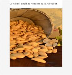Whole and Broken Blanched Almonds