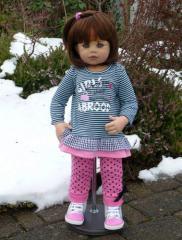 Wednesday's Child (Brunette) by Monika Levenig Doll