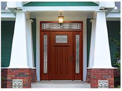 Fiber-Classic Mahogany Fiberglass Entry Door