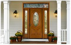 Fiber-Classic Oak Fiberglass Entry Door