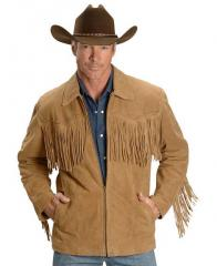 Tan Fringe Suede Leather Jacket