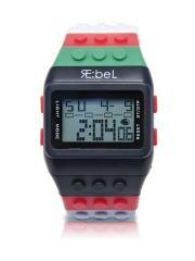 Black Color Block Wrist Watch