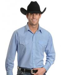Ely Solid Classic Western Shirt - Custom Fit, Neck