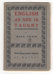 English As She Is Taught (Item #: 3948) Mark Twain