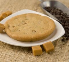 Chewy Caramel Chocolate Chip Cookie