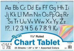 Colored Paper Manuscript Chart Tablet, 1-1/2