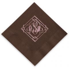 Granada Monogram Foil-Stamped Napkins