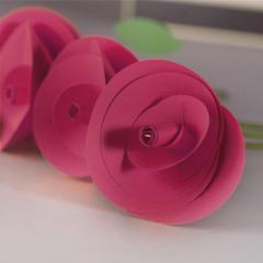 Pomegranate Paper Flower - 6/Pk