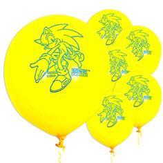 Latex Sonic Balloons 6ct