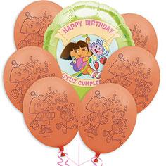 Dora the Explorer Value Balloon Bouquet 7pc
