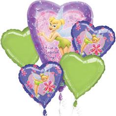 Tinker Bell Birthday Balloon Bouquet 5pc
