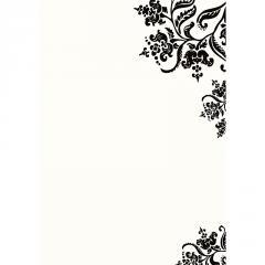 Letterpress Colonial Stencil A7 Printable Wedding