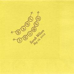 Baby Shower Banner Custom Lunch Napkins