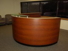 Reception Desk (Half round with glass)
