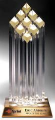 Elite Nine Diamond Post Acrylic Award Presidential