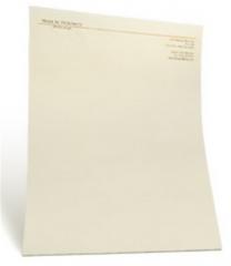 Raised Printed Letterhead