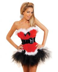 Holiday Flirt Velvet Bustier w/Removable &
