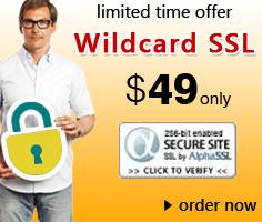Wildcard SSL Certificate at $49/yr