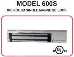 600 Pound Single magnetic lock