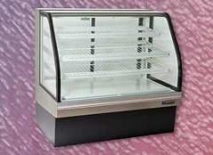 Non-Refrigerated Curved Glass Bakery Merchandisers