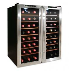 Vinotemp 48-Bottle Thermoelectric Dual-Zone Wine Cooler