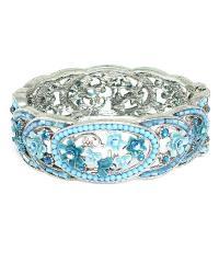 Austrian crystal open bangle bracelet