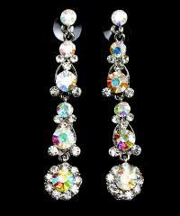 Austrian crystal dangling charm earrings.