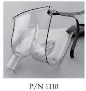 1101-6-50 Salter Labs Aerosol Therapy Masks. Adult extra-large comfort aerosol mask with 6' aerosol tubing. Elastic Headstrap, 50/case