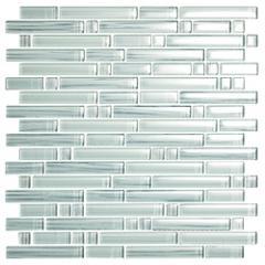 GLASS MOSAIC BAMBOO WHITE STRIP TILE