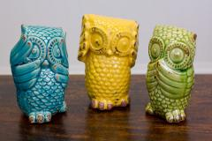 """""""No Evil"""" Ceramic Owls"""