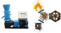 Electric biomass pellets mill