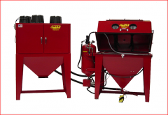 ACE Soda Blast Cabinets with Dust Collector Model