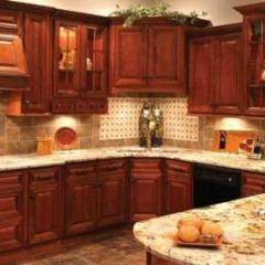 Glazed Cherry cabinets