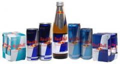 Energy drinks ,orange juice and soda