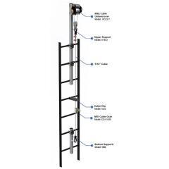 Vertical ladder lifeline systems