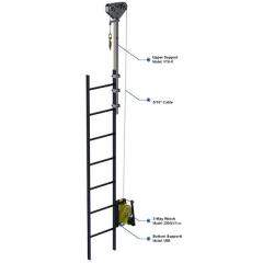 Vertical ladder lifeline systems