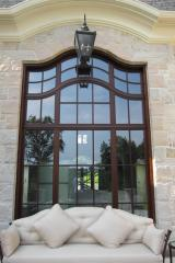 Wood/Wood -Mahogany casement windows