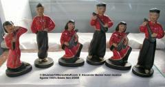 6 Alexander Baxter chalkware Asian musicians in