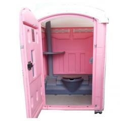Pink Roto Mold Porta Potty Toilet