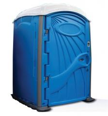 Blue Flushing Portable Restroom