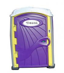 Purple Yellow Portable Toilet