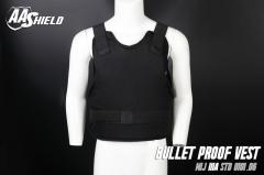 AA SHIELD Bullet Proof Vest Comfort Concealable Aramid NIJ IIIA 3A Size L Black