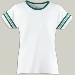 Augusta Girls Cotton/Spandex Spirit Tee