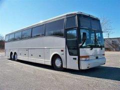 1998 White Vanhool M11 60 passenger newly converted party bus #6098