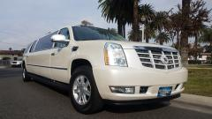 2007 Pearl White 100-inch Cadillac Escalade Limo /w 100,000miles #1283